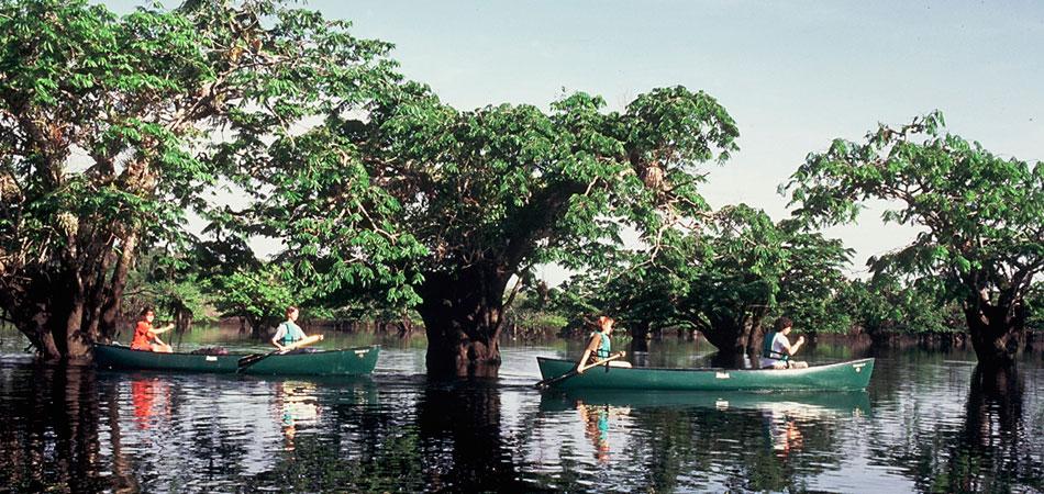 Canoeing in Laguna Grande